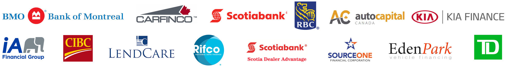 World Class Auto, Bank Logos